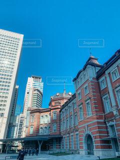 空,建物,屋外,窓,東京駅,タワー,都会,高層ビル,通り,建築,アーキテクチャ,辰野金吾