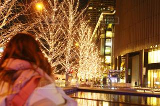 夜,イルミネーション,人,グランフロント大阪