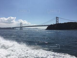 海,空,橋,太陽,波,船,光,快晴,鳴門海峡,日中