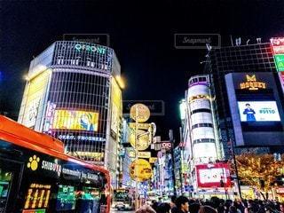 渋谷の夜の写真・画像素材[2836096]