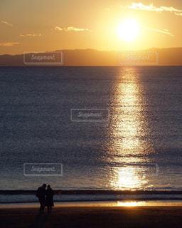 江ノ島の夕日の写真・画像素材[3457659]