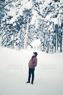 雪山にての写真・画像素材[1754852]