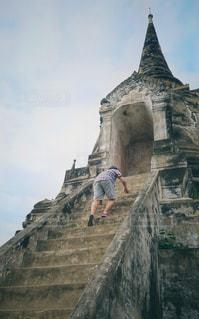 アユタヤの階段の写真・画像素材[2147373]