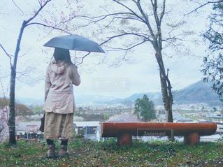 雨の中の散歩の写真・画像素材[2165092]
