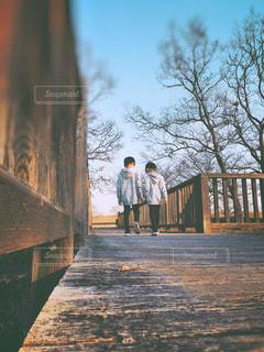 木の橋の写真・画像素材[2899350]