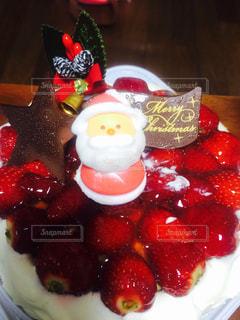 サンタケーキの写真・画像素材[2845554]