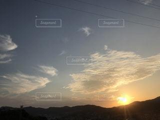 自然,風景,空,屋外,太陽,朝日,雲,山,光