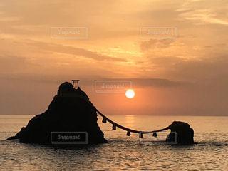 自然,風景,海,空,屋外,太陽,夕暮れ,水面,光
