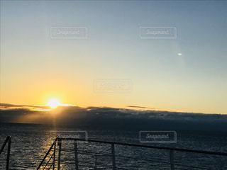 風景,海,空,屋外,太陽,船,光,日の出,眺め