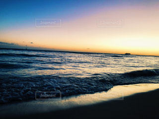 海,空,太陽,ビーチ,夕暮れ,光,ハワイ