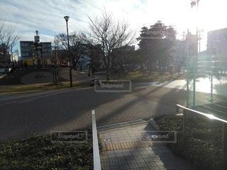 夕暮れの川名公園の写真・画像素材[2906506]