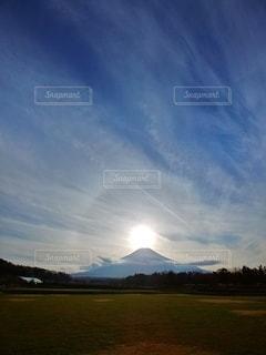 空,夕日,富士山,太陽,夕暮れ,光,ダイヤモンド富士