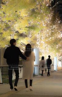 女性,男性,恋人,風景,夜,屋外,イルミネーション,都会,クリスマス,明るい,グランフロント大阪,シャンパンゴールド,グランフロントクリスマス