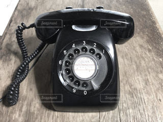 黒電話の写真・画像素材[2919663]