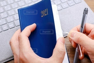 2021年の手帳 表紙の写真・画像素材[4003887]