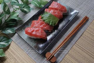 本マグロの握り寿司の写真・画像素材[4342276]