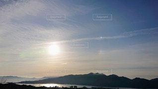 自然,風景,空,屋外,太陽,朝日,水面,海岸,山,光,瀬戸内海,瀬戸内,彩雲