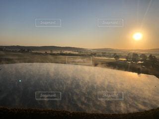 空,太陽,雲,気球,池,光,朝,湯気,オーストラリア