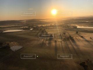 空,太陽,気球,影,光,朝,オーストラリア
