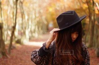 帽子をかぶった人の写真・画像素材[2851234]
