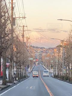 遠くの富士山の写真・画像素材[3403606]