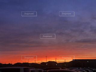 空,太陽,雲,夕暮れ,オレンジ,光,Sky