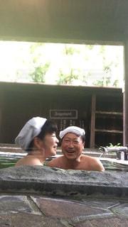 家族風呂でホッコリの写真・画像素材[2923335]