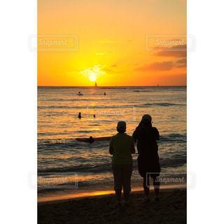 海,空,太陽,ビーチ,夕暮れ,海岸,光,Hawaii
