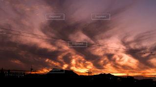 空,屋外,太陽,雲,夕暮れ,光,景観