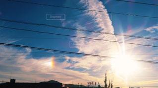 空,太陽,雲,光,彩雲