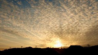 空,太陽,雲,夕暮れ,ベランダ,光