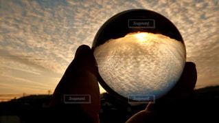 空,太陽,ベランダ,景色,光,ガラスボール,レンズボール