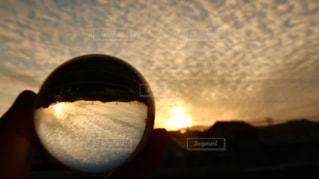 空,太陽,雲,ベランダ,景色,光,ガラスボール,レンズボール