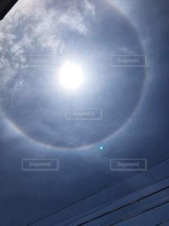 太陽と光の輪の写真・画像素材[2863356]