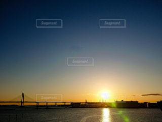 風景,海,空,橋,屋外,太陽,朝日,光