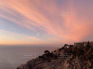 自然,風景,空,ピンク,太陽,夕暮れ,海岸,光,崖,日の出,クロアチア,岬