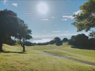 海,空,屋外,太陽,青,光,新緑,ブルー,ゴルフ,グリーン,blue,ハウステンボス,海原,臨海コース