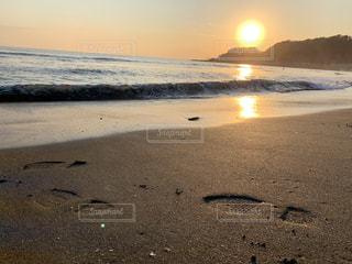 空,太陽,砂浜,夕暮れ,海岸,光