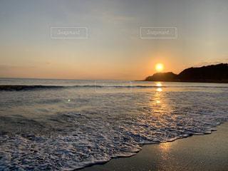自然,海,空,太陽,ビーチ,砂浜,夕暮れ,海岸,光
