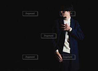 黒白青僕の写真・画像素材[2862795]