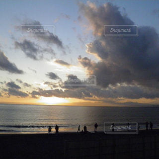 空,太陽,夕暮れ,海岸,光,江ノ島