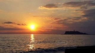 自然,風景,海,空,太陽,夕暮れ,光,江ノ島