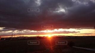 空,太陽,朝日,雲,光