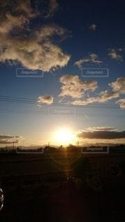 風景,空,太陽,朝日,雲,光