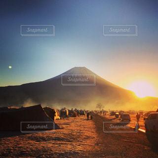 富士山で初日の出の写真・画像素材[2865219]