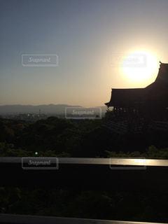 空,清水寺,京都,太陽,光