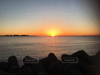 海,空,太陽,朝日,海岸,光,日の出