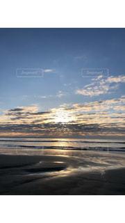 空,太陽,雲,海岸,日の出