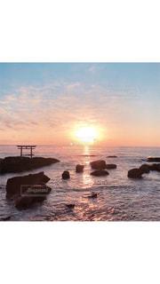 風景,海,空,太陽,海岸,光,日の出