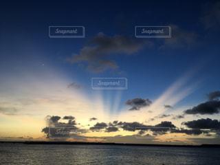 風景,海,空,太陽,ビーチ,雲,夕暮れ,光